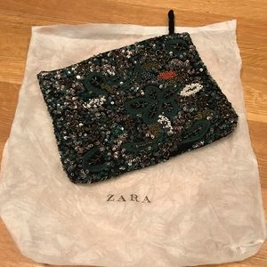 Sparkly soft beaded clutch
